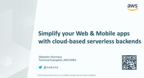 [AWS] Simplify Your Web and Mobile Apps with Serverless Backend in the Cloud
