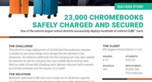 23,000 Chromebooks Safely Charged & Secured