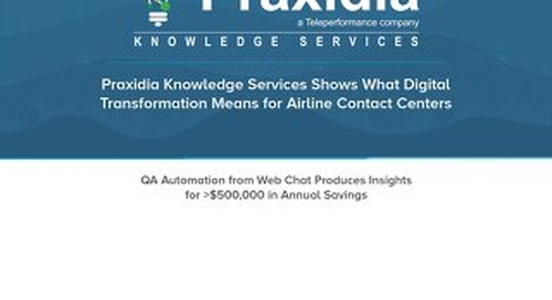 Praxidia Knowledge Services Shows What Digital Transformation Means for Airline Contact Centers