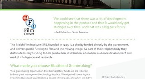 British Film Institute Customer Spotlight
