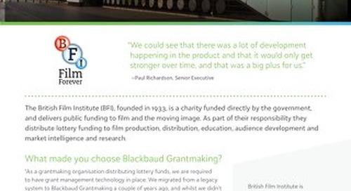 British Film Institute Customer Spotlight