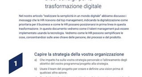 [10 Top Tips] Fornire una trasformazione digitale a impatto elevato