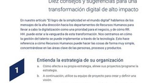 (10 consejos) Cómo conseguir una transformación digital de alto impacto