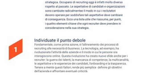 4 passaggi chiave per il successo nel reclutamento