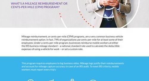 What's a Mileage Reimbursement or Cents-Per-Mile (CPM) Program?
