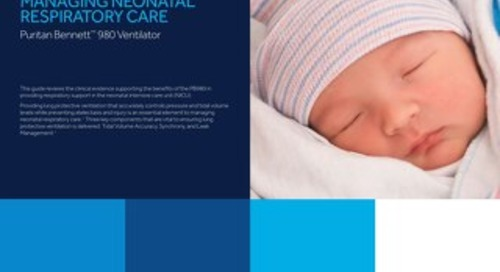 Guide: Puritan Bennett 980 Neonatal Ventilator Clinical Evidence