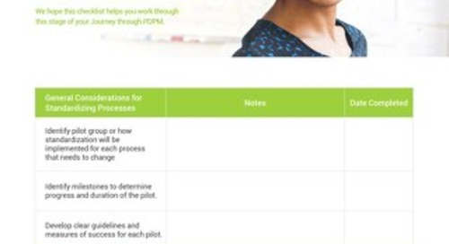 PDPM Checklist - Stage 2 Standardize