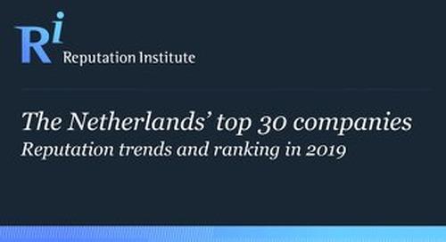 2019 The Netherlands RepTrak