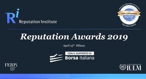 2019 Italy RepTrak Awards