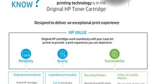 Original HP Toner:  Designed To Deliver An Exceptional Print Experience