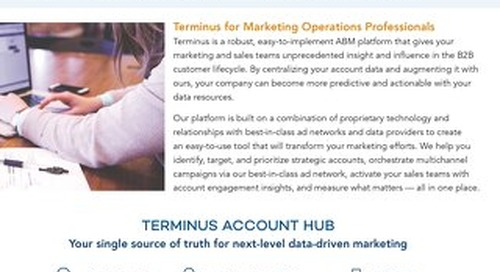 Marketing Ops - Put Terminus to Work for You