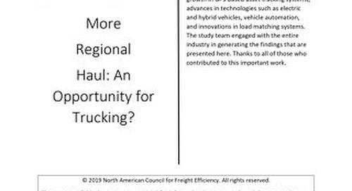 Regional Haul Research- North America