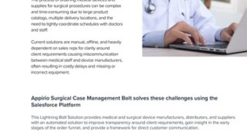Surgical Case Management Bolt One-Pager