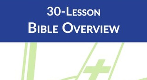 30-Lesson Bible Overview: Student Book Sample