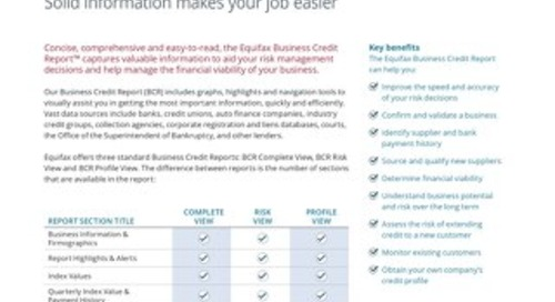 Business Credit Report - Product Sheet - Canada - EN