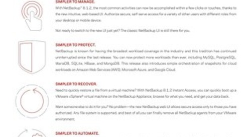 NetBackup 8.1.2 Top Reasons to Upgrade