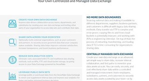 Snowflake Data Exchange Solution Brief