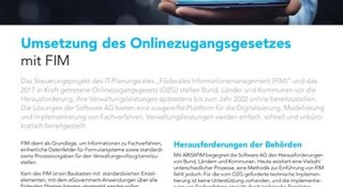Umsetzung des Onlinezugangsgesetzes mit FIM