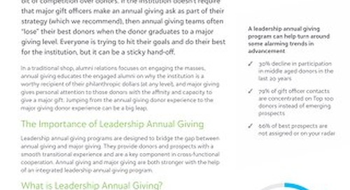 Whitepaper: Should you have a leadership annual giving program?