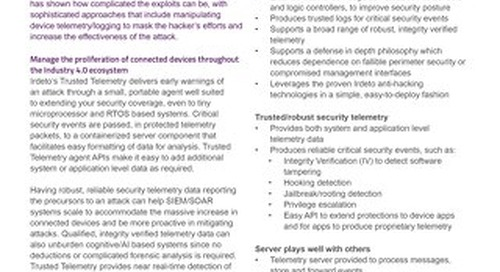 Datasheet: Trusted Telemetry for Industrial IoT