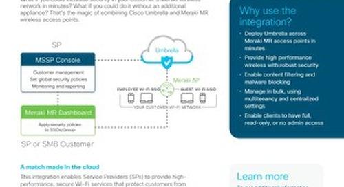 Cisco Umbrella and Meraki MR for SPs