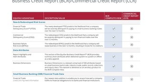 Business Credit Report - Product Compare - Canada - EN