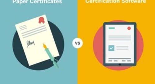 Paper Certificates vs Certification Software