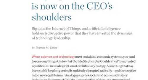 McKinsey & Co: Why Digital Transformation is Now on the CEO's Shoulders