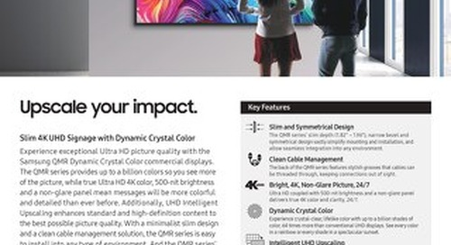 QMR Series UHD Commercial Displays - Upscale your impact.