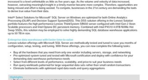 Lenovo Database Configuration for Microsoft SQL Server DWFT - 50TB G2
