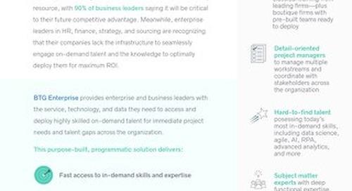 Introducing BTG Enterprise