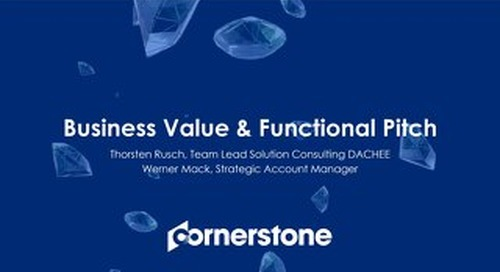 Cornerstone Business Value & Functional Pitch