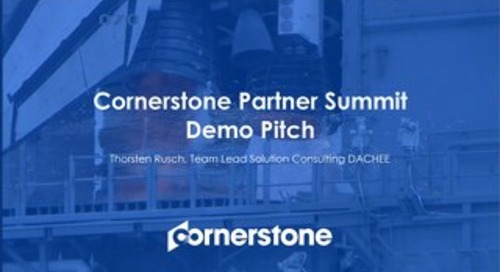 Cornerstone Demo Pitch