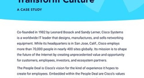 Connect People and Transform Culture: Cisco Case Study