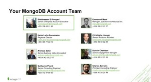 Your MongoDB Team for CMA CGM