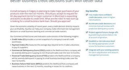 Commercial Risk Scores and Indicators - Product Sheet - Canada - EN