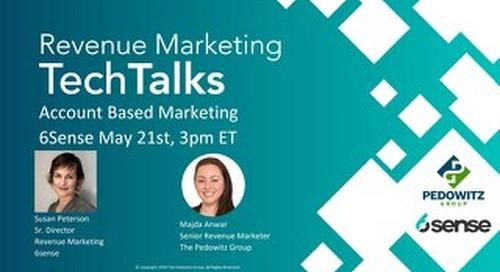 TechTalk Slides: Account Based Marketing - 6sense