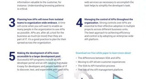 5 best practices for moving from SOA to APIs