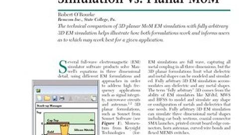 3D EM Simulation vs Planar MoM Comparison