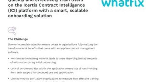 Solution Brief   Icertis Integration with Whatfix