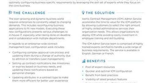 ICM Admin Service datasheet