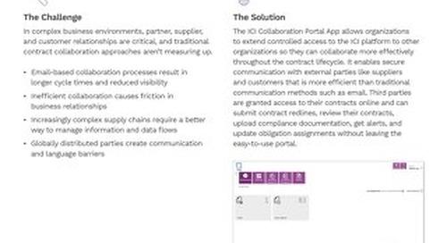 Solution Brief   ICM Collaboration Portal