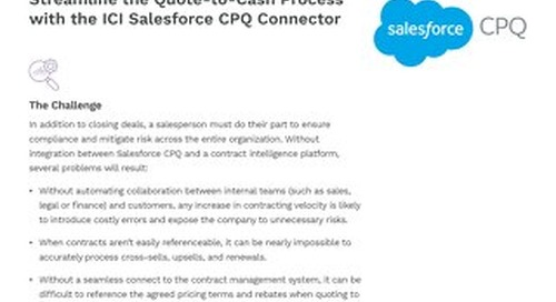 Solution Brief | Icertis Salesforce CPQ Connector