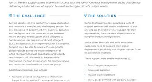 ICM Customer Support Plans datasheet