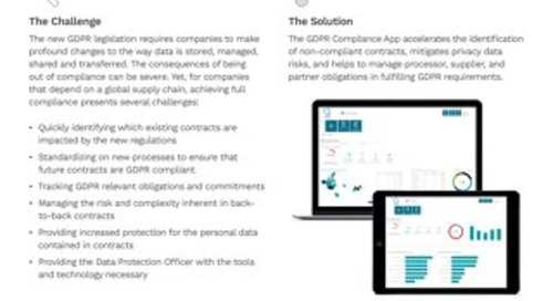 Solution Brief | ICM GDPR Compliance app