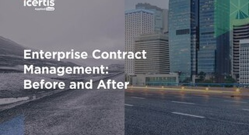 Enterprise Contract Management - Before and After