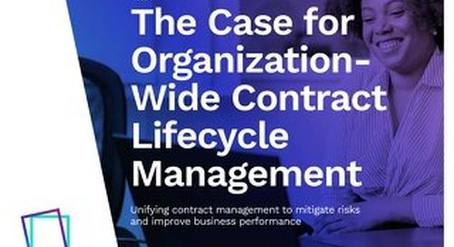 The Case for Enterprise Contract Management