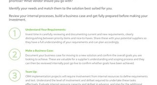 How to Choose a CRM Tipsheet 2019