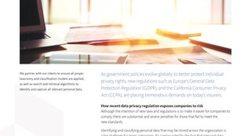 Overview: GDPR CCPA Compliance Insurers