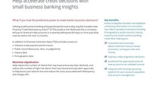 Financial Trade Delinquency Score - Product Sheet - Canada - EN